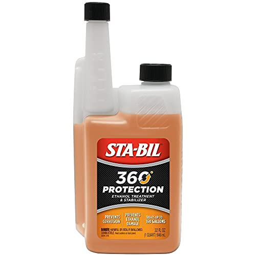 STA-BIL 360 Protection Ethanol Treatment And Fuel Stabilizer - Prevents Corrosion - Prevents Ethanol Damage - Cleans Entire Fuel System - Treats 160 Gallons, 32 fl. oz. (22275)