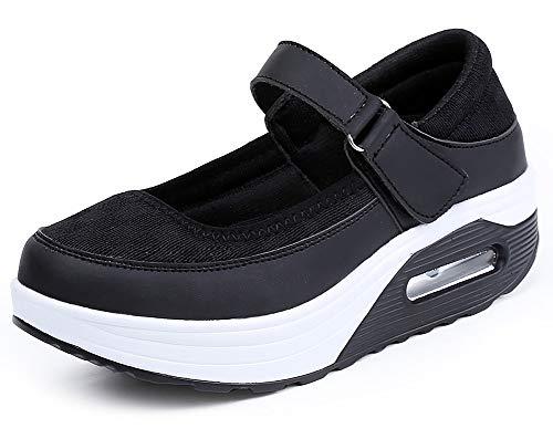 Aitaobao Mujer Adelgazante Sneaker Malla Ligero Verano Plataforma Cuña Casual Perder Peso Zapatos Al Aire Libre Deportivo Gimnasio El Trabajo Zapatos Cómodo y Antideslizante Moda Loafers