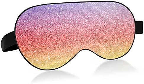 Sleep Mask Abstract Ranking TOP6 Rainbow Genuine Glitter Sleepin Texture for Eye