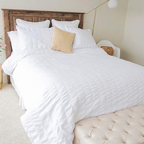 Donna Sharp King Bedding Set - 3 Piece - Cottage Chic Contemporary Comforter Set with King Comforter and Two King Shams - Machine Washable