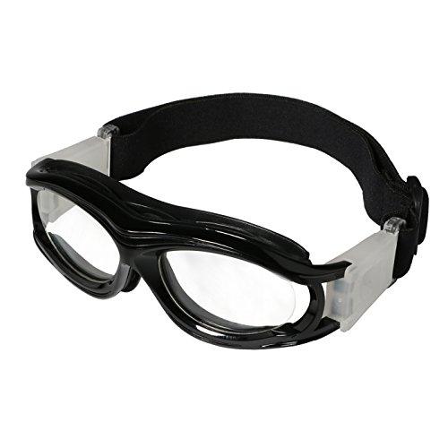 Tongshop Stoßfeste Sportbrille für Kinder/Teenager mit verstellbarem/austauschbarem Sicherungsband, Kinder, Schwarz