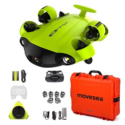 FIFISH Drone Submarino V6 100m Cable 64GB VR HDMI Protectores Maletin Naranja sin Ruedas QYSEA 847456