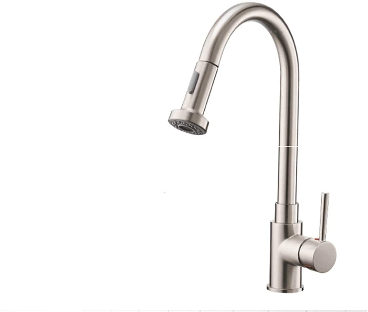 BBQBQQY Drawing process Kitchen cold and hot water faucet pull out shrunk sink dish faucet