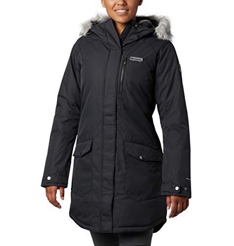Columbia Women's Suttle Mountain Long Insulated Jacket, Black, Medium