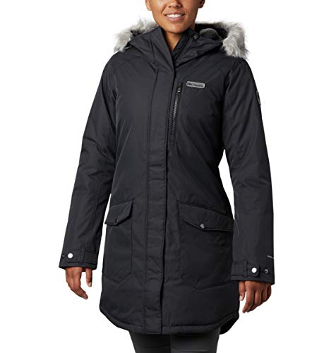 Columbia Women's Suttle Mountain Long Insulated Jacket, Black, Large