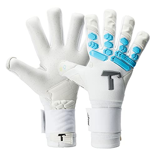 T1TAN Ice Beast 2.0 Torwarthandschuhe für Erwachsene, Fußballhandschuhe Herren Innennaht und 4mm Profi Grip - Gr. 10