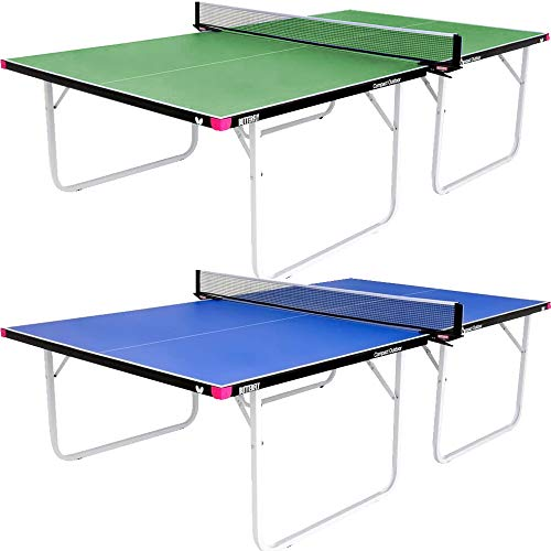 Butterfly Compact Outdoor Ping Pong Table   Thick Outdoor Table Tennis Table   All Weather Ping Pong Net Included   3 Year Warranty   Ships Assembled   Folds for Easy Transport