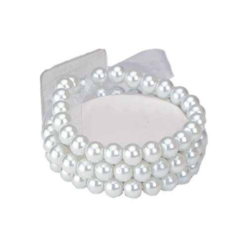Corsage Bracelet - Delicate Flower - Sugar (for Smaller Wrists)