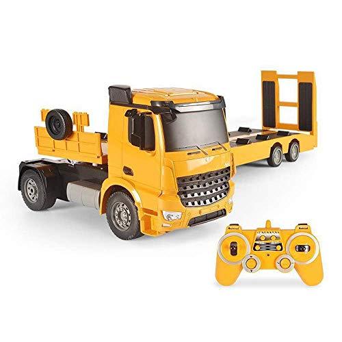 Gran carga de control remoto Camión RC Coche Remolque Semirremolque Semirremolque Tracción Excavadora de carga Ingeniería Máquinas Modelo Dump Camión Luz Y Sound Boys Regalos Niños Juguetes Niños