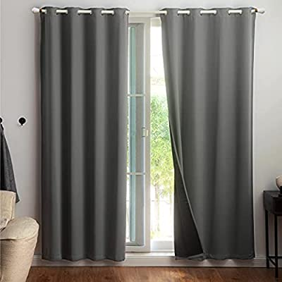 Bedsure 100% Blackout Curtains 84 inches Long -...