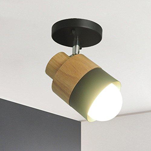 YU-K wandlamp creatieve moderne kunst slaapkamer boven het bed, balkon van massief hout wandlicht, zwart