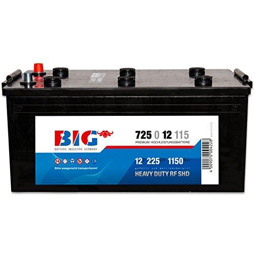 BIG LKW-Batterie 12V 225Ah 1150A für LKWs Traktor und Landmaschinen DIN 72512