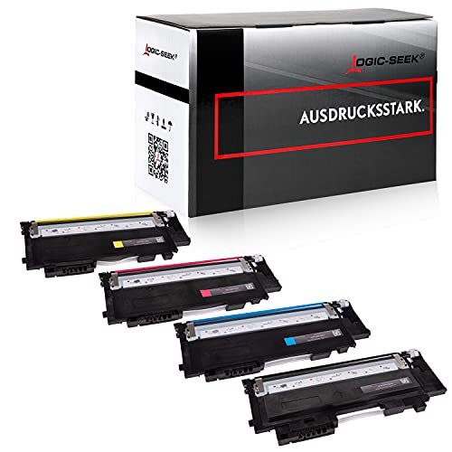 4X Tóner Logic-Seek Compatible para CLT-P404C CLT-K404S CLT-C404S CLT-M404S CLT-Y404S Multipack para Samsung Xpress C430W C480FN C480FW