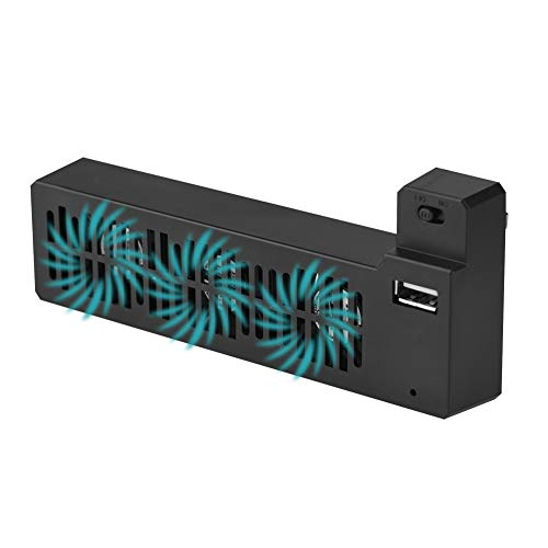 Denash Externer USB Lüfter Kühler für Xbox ONE X Spielkonsole, 3 USB Lüftern Seitlich montiert, Hitze reduzieren Ventilator Kühlsystem
