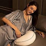 Coussin de grossesse et d'allaitement, 75 x 35 cm, multifonctionnel, support complet du corps, coussin de maternité pour dormir sur le côté et allaiter bébé avec housse en coton 100 %