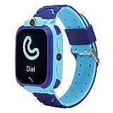 FOLOSAFENAR Smartwatch Impermeabile, Orologio da Polso Digitale 2.5D olografico Design Integrato XP67 Touch Screen Impermeabile per Regalo per Bambini da 3 a 12 Anni(Blu)
