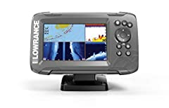 EASIEST TO USE: The Lowrance HOOK2 5 Fish Finder features auto-tuning sonar and phone-like menus giving you more time to spend fishing and less time dealing with settings. WIDER SONAR COVERAGE: The HOOK2 5 offers a wide-angle CHIRP sonar cone giving ...
