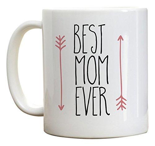 N\A Muttertagsgeschenk, Beste Mutter Aller Zeiten Kaffeetasse, Geburtstagsgeschenke für Mutter, Muttertagsbecher Geschenkideen. Rosa Pfeilbecher,