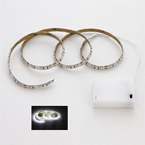 100cm LED Leiste weiß + Batterie box Batteriebetrieben Schalter LED Strip e Streifen