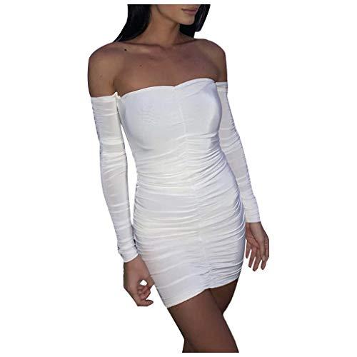 Fenverk Bekleidung Kleid Damen Langarm Vintage Elegante Kleider Aus Cocktailkleid Partykleider...