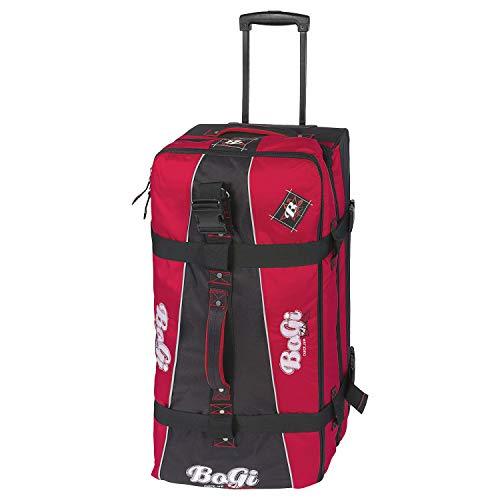 BoGi Bag Unisex– Erwachsene Reistrolley 110 Liter-Rot/Schwarz Reisetasche, 85 cm