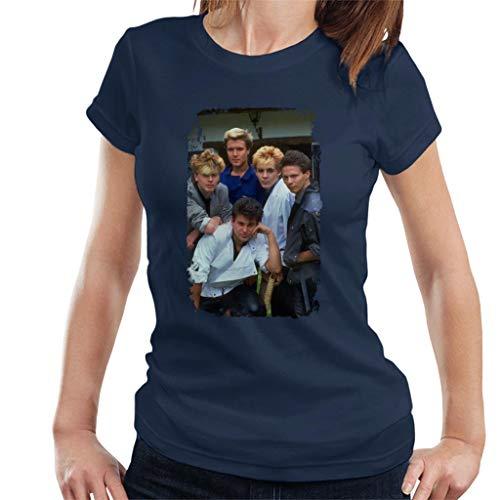 Ladies Duran Duran Band TV Times Photo T-shirt, Black, Navy, S to XXL