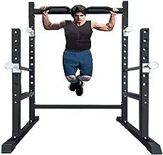 Van Alderman Home Gym Powger Cage System Squat Rack Workout Station for Weightlifting, 1000LB Pull Barbell Dip Rack Bodybuilding and Strength Training