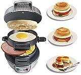 Las placas de huevo sandwichera eléctrica Grill Panini Pancake hornear Tostadora multifunción antiadherente hamburguesa desayuno Máquina 1125 WTZ012