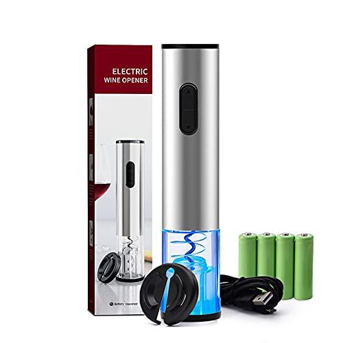 Cavatappi Elettrico, Apribottiglie USB cavatappi elettrico ricaricabile di Vino Elettrico con Taglierina per Lamina,Materiale in acciaio inossidabile Ideale per gli Amanti del Vino