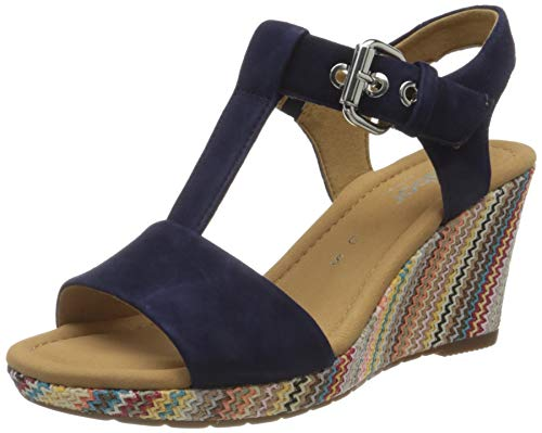 Gabor Shoes Damen Comfort Sport Riemchensandalen, Blau (Bluette (Abesal) 36), 42 EU