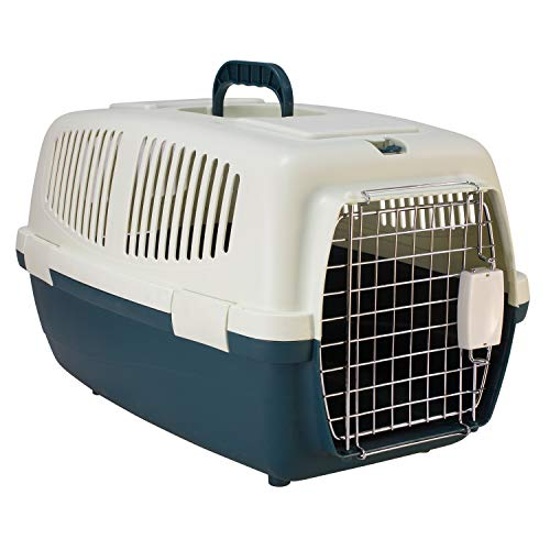 Arquivet Transportín de plástico para Mascotas 54 x 36 x 33 cm - Perros y Gatos de tamaño pequeño o Mediano, roedores Grandes - Transportín para Tren y Coche