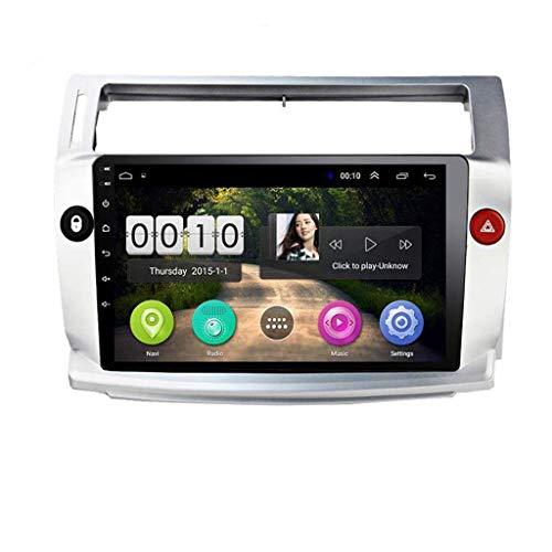 GLFDYC Android 8.1 GPS Navigation Stereo Radio, para Citroen C4 Quatre 2004-2009, 9' 1080P HD Pantalla Táctil Completa Reproductor Multimedia, Enlace Espejo Control Volante Bluetooth,4G+WIFI1G+16G