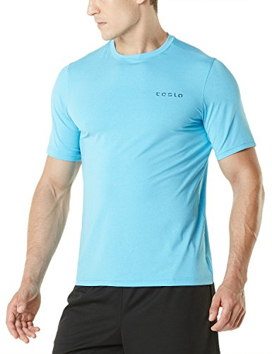 Tesla TM-MTS04-SKB_X-Large Men's HyperDri Short Sleeve T-Shirt Athletic Cool Running Top MTS04