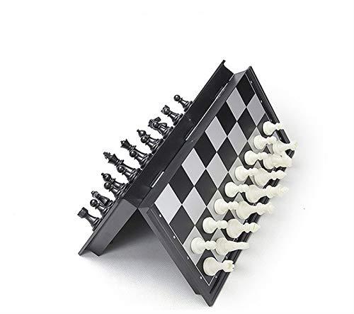 RHGEIUCY Rangeiucie Schach, leicht zu tragen Schwarzweiß-Festplatten-faltbares Schachbrett, langlebig Nicht leicht zu gleiten, stark und langlebig (Color : B, Size : Large)
