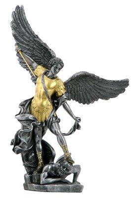 NEU. Gold Zinn Saint Michael Statue Erzengel Patron der Polizei Soldaten