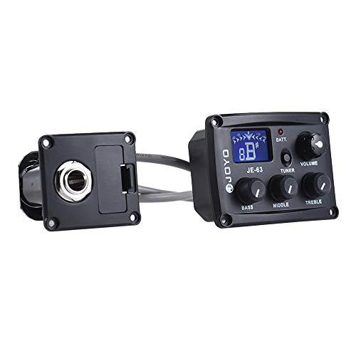 Nukana JOYO JE-63 Ukulele Ukelele Uke Piezo Pickup Preamp System 3-Band EQ Equalizer LCD Display Mit Tuning Funktion