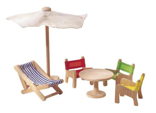 PlanToys - PT7316 - Jouet en bois - Meubles de Jardin