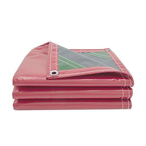 DGLIYJ- Abdeckplanen Lona De Raspado De Cuchillo Rojo Grueso Impermeable Al Aire Libre Impermeable, Lona De Sombra De Aislamiento Térmico para Carpa De Boda (450g / ㎡)(Size:2x3m)