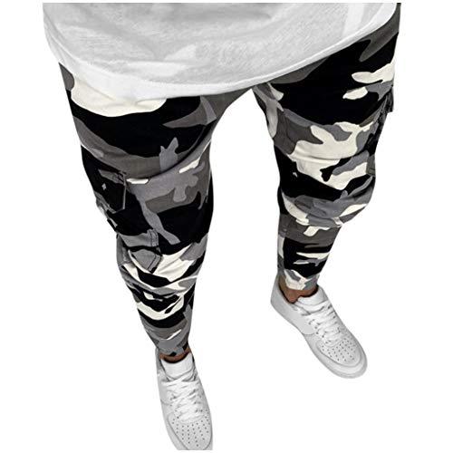 Joggingbroek, brede broek, panty's, herenmode denim recht camouflage broek gestressed jeans lange broek Small camouflage