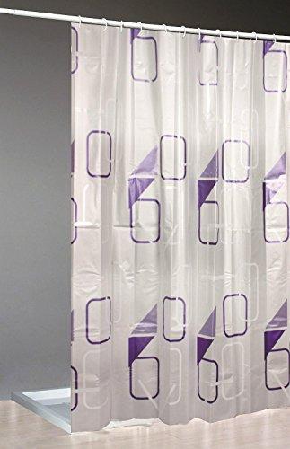 Moderner Duschvorhang +Ringe 240x200cm/Top Qualität /Vorhang Dusche Bad