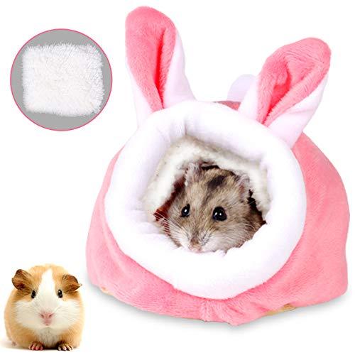 Kleintierbett Hamster, Kleine Tier Haus Nest,Haustier Bett,Warm Plüsch Kuschelhöhle,Hamster Bett,Tierbett,Haustier Decke,Igel Kuscheln Sack,Haustier Chinchilla Bett Haus Käfig Nest Zubehör Hase