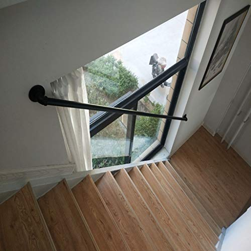 Comif-barkruk trapleuning binnenkorridor oude veiligheidsleuning, zolder buitenwandmontage, industriële metalen ijzeren leuningsteun, gebruikergedefinieerd maat (1 voet 20 voet)
