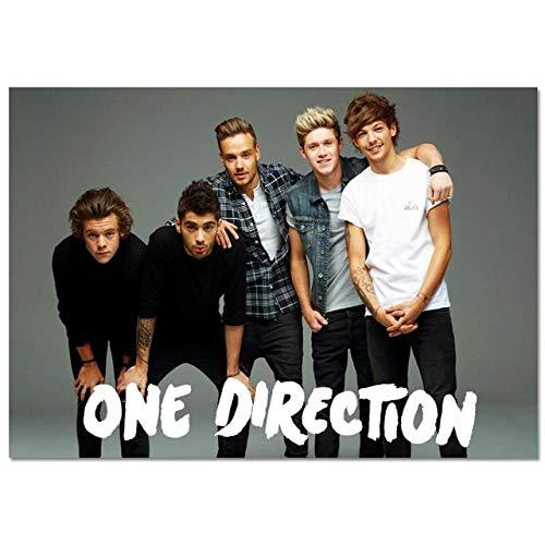 LDTSWES® Rompecabezas Rompecabezas One Direction British Band, Rompecabezas de Madera 1000 Piezas, para niños Adultos Juegos de desafío Mental Juguetes Rompecabezas Sin Marco