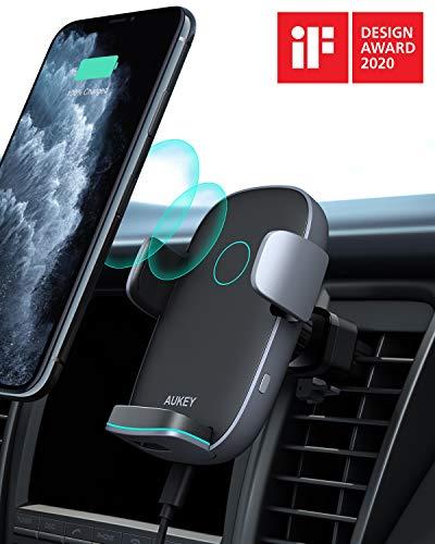 Aukey: supporto smartphone per auto automatico e con ricarica wireless