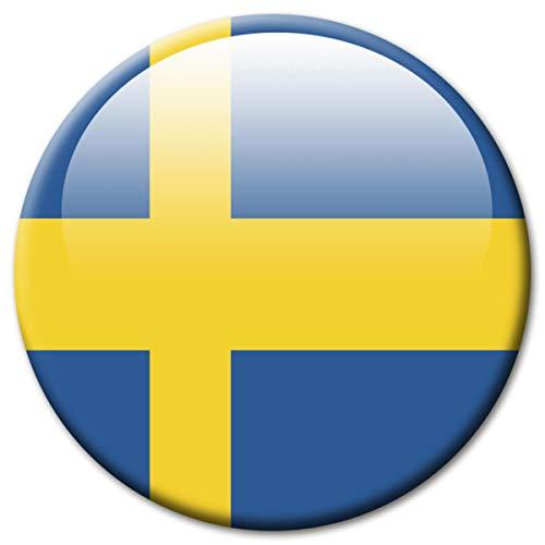 Kühlschrankmagnet Schweden Flaggen Magnet Länder Reise Souvenir Flagge für Kühlschrank stark groß 50 mm