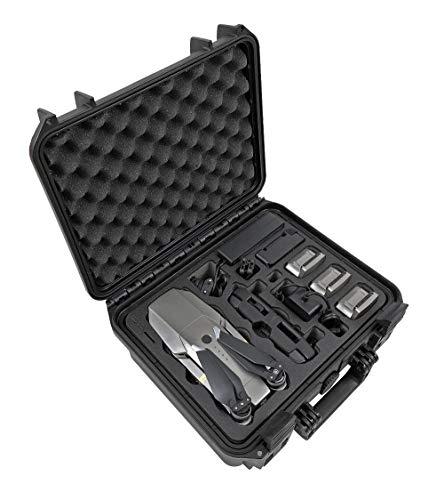 TOMcase Maletín Premium Edición de Viaje para dji Mavic 1 Pro/Platinum Fly More Combo, hasta 5 baterías y Mucho más | Caja Exterior Impermeable IP67 (Mavic 1 TE, Negro)