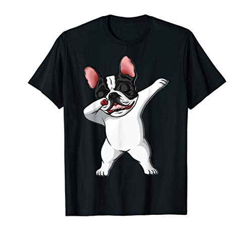 The Brindle Pied Frenchi dabbing french bulldog Lover Gift T-Shirt