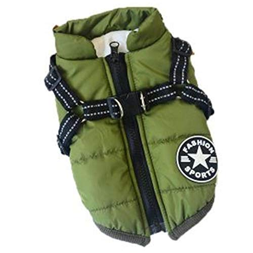 DOGGYZSTYLE Pet Dog Jacket Vest Waterproof Thick Fleece Warm Coat for Puppy Cat Winter Cold Weather...