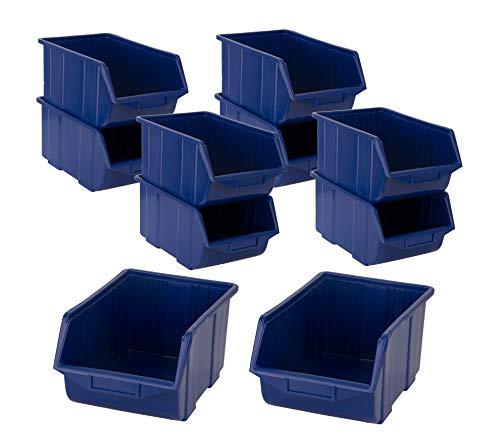 BigDean Stapelboxen Set 10 Stück Blau...
