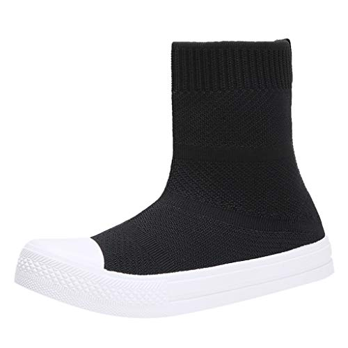 Check Out This Kauneus Womens Comfy Breathable Knit Sneakers Ankle Boot Round Toe Flat Casual Lightw...